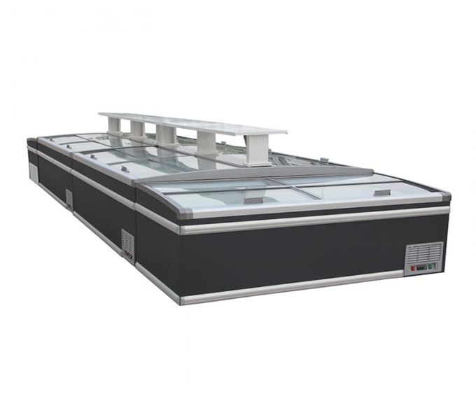 commercial plug in  island display chest deep freezers